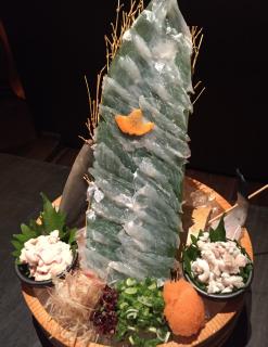岡山名物かは知らないが、ウマヅラハギとサバの姿造り! うまづらや(岡山市)